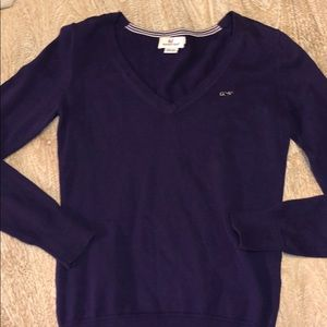 Vineyard vines xs purple sweater V-neck